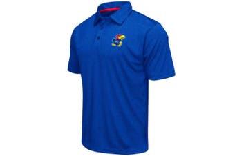 (XX-Large, Kansas Jayhawks-Heathered Blue) - Colosseum Men's NCAA Heathered Trend-Setter Golf/Polo Shirt