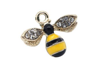 M257-E 8pcs New Cute Tiny Yellow Bee Bracelet Charms Pendants Wholesale