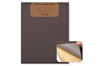 (Medium Brown) - SUMURA Leather Repair Patch, Leather Adhesive Kit for Sofas, Drivers Seat, Couch, Handbags, Jackets - 8× 28cm (Medium Brown)