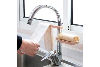 (Pink) - Faucet Soap Holder - Water Tap Sponge Tray - Removable Dishcloth Drying Shelf Hanging Kitchen Plastic Sink Caddy Organiser – Towel Rack,Sponge Storage rack (Pink)