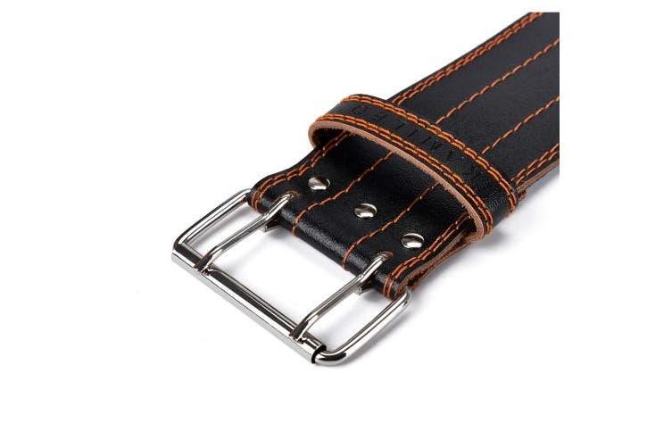 (Medium) - Kamileo Lifting Belt, Weight Lifting Leather Belt Prong Buckle Men Women, Stabilising Lower Back Support Powerlifting Squat Deadlifting