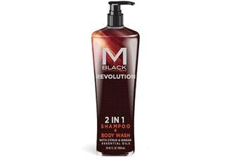 M.Black Signature Series 2 In 1 Shampoo + Body Wash With Citrus & Ginger Essential Oils - Scent: Revolution