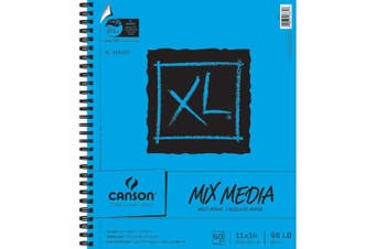 (28cm  x 36cm ) - Canson C702-2421 11 in. x 14 in. XL Wire Bound Mix Media Pad - 60 Sheets
