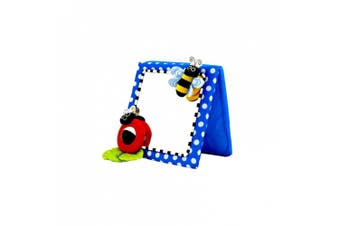 (Blue) - Sassy Inspire Vision Crib and Floor Mirror