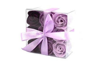 Soap Flowers - Lavender Roses with Gift Box (Set of 9)