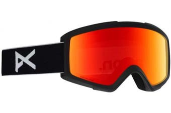 (NA, Black/Sonar Red) - Anon Men's Helix 2 Sonar with Spare Snowboard Goggles, Men
