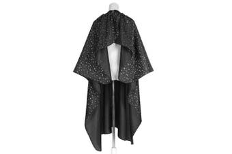 (Black Star) - Hair Apron Cape Hairstylist Simple Design Pattern Waterproof Haircut Cloth Wrap Protect (Black Star)