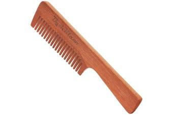 (ManKlawz Coarse) - ManKlawz Men's Comb Coarse Thick Wide Teeth Wooden Hair Comb Detangler Rake Handle - Best Handle Hair Comb for Men with Big Manly Hands