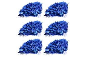 (Blue) - Vbestlife Cheerleader Pom Poms 12pcs Cheerleading Poms Metallic Foil Pom Poms Squad Cheer Sports Party Dance Useful Accessories
