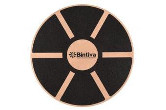 (Black) - Wood Balance Board For fitness Rehab Balance and Stability Training