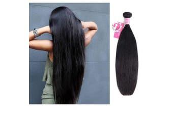 (16) - Ali Pearl Hair 100% Human Hair Bundles Brazilian Straight Hair Weave 1 Piece 8-80cm Natural Black Remy Hair Extensions (16)
