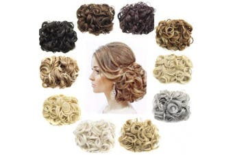 (24T613) - Ani·Lnc 14Colors Short Women's Synthetic Hair Big Bun Chignon Two Plastic Comb Clips in Hair Extension Hairpiece