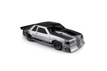 J Concepts Inc. 1991 Ford Mustang Fox Clear Body 10.75 Width, 33cm Wheelbase, JCO0362