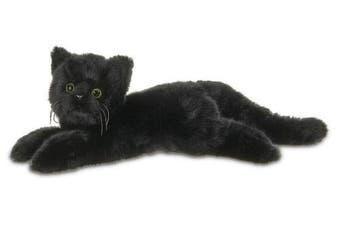 Bearington Jinx Plush Stuffed Animal Black Cat, Kitten 38cm