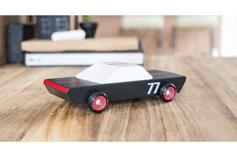 (Carbon 77) - Candylab Toys - Carbon77 Wooden Car - Modern Vintage Racer - Solid Beech Wood