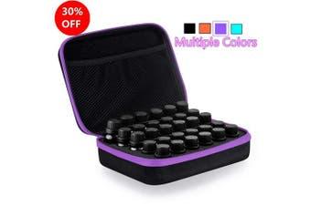 (Purple) - Myonly Essential Oils Carrying Case Holds, 30 Bottles 5ml, 10ml, 15ml Bottles Storage Organiser Bag Hard Shell EVA (Purple)