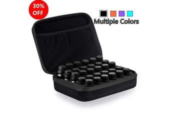 (Black) - Myonly Essential Oils Carrying Case Holds, 30 Bottles 5ml, 10ml, 15ml Bottles Storage Organiser Bag Hard Shell EVA (Black)