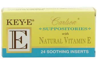 (24) - Key-E Suppositories with Natural Vitamin E 24 pck