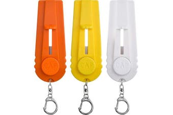 ABOAT 3 Pieces Cap Launcher Beer Bottle Cap Shooter Opener with Keychain, Orange, Yellow and White