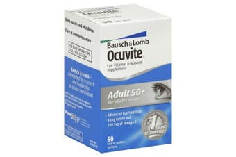 Bausch & Lomb Eye Vitamin & Mineral Supplement, 50 softgels