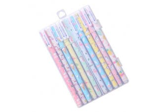 YeahiBaby Unicorn Flamingo Gel Pen Set - 10Pcs 0.5mm Fine Point Pen, 10 Colours, Cute Stationery Gifts for Girls