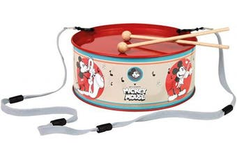 Bolz 52635 Maus Tin Disney Mickey Mouse Diameter 20 cm Children's Drum Metal with 2 Mallets Musical Instrument for Ages 3 and Above, Colourful, Ø