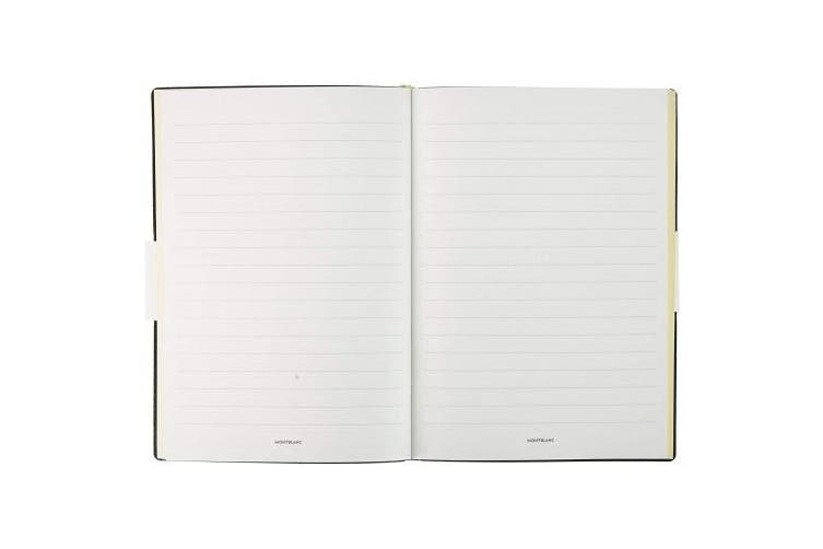 Montblanc Notebook 117867 Fine Stationery #146 Emerald Green – Elegant Soft Cover Journal – Lined Notebook with Leather Binding – A5