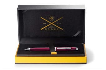 A. T. Cross Cross Century II Plum Ballpoint Pen Lacquered in Gift Box
