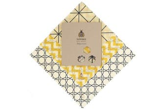 (Classical) - SuperBee Beeswax Wrap | Set of 3: Small, Medium and Large | Classical | Reusable, Eco Friendly, Zero Waste Food Wrap