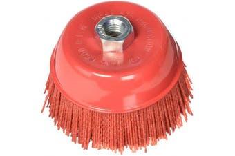 Al's Liner ALS-6CB 15cm Abrasive Nylon Bristle Cup Brush, 180 Grit