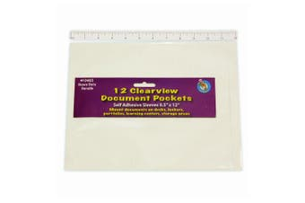 Ashley Productions ASH10405 Document Clear Pocket, 0.8cm Height, 24cm Wide, 31cm Length (12 per Package)