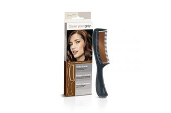 (Dark Brown) - Cover Your Grey Colour Comb - Medium Brown