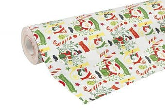 (Bright Christmas) - Clairefontaine 50 m x 0.70 m Christmas Alliance Long Roll Wrapping Paper, Bright Christmas
