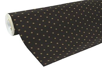 (Gold Stars) - Clairefontaine 50 m x 0.70 m Christmas Alliance Long Roll Wrapping Paper, Gold Stars