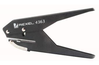 Rexel 118064 S120 Single Hole Plier Punch 80gsm Black