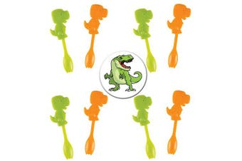 50 Little Dinosaur Picks With Spoons Plus a Cool Dinosaur Button