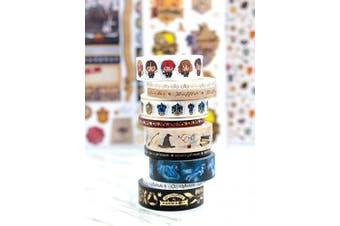 (One Pack, Harry Potter) - Paper House Productions SET0013 Harry Potter Washi Tape Bundle includes Five 15 mm Rolls Five 5 mm Rolls, Decorative Adhesive Tape