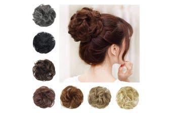 (6# Medium Brown) - BARSDAR Messy Hair Bun Extensions Hairpiece for Women Updo Scrunchie Hair Piece (6# Medium Brown)