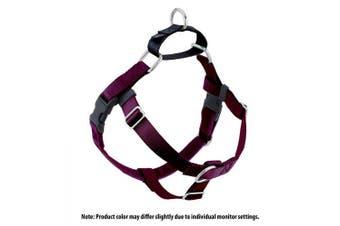 (Burgundy) - 2 Hounds Design Freedom No-Pull No Leash Harness Only, 1.6cm , Medium, Burgundy