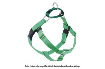 (Neon Green) - 2 Hounds Design Freedom No-Pull No Leash Harness Only, 1.6cm , X-Small
