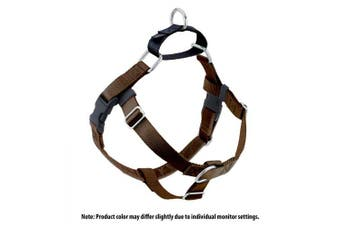 (Brown) - 2 Hounds Design Freedom No-Pull No Leash Harness Only, 1.6cm , X-Small