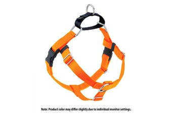 (Neon Orange) - 2 Hounds Design Freedom No-Pull No Leash Harness Only, 1.6cm , Medium