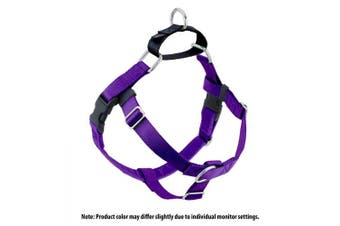 (Purple) - 2 Hounds Design Freedom No-Pull No Leash Harness Only, 1.6cm , Small