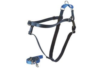 (Navy Blue) - 2 Hounds Design Freedom No-Pull No Leash Harness Only, 1.6cm , Medium