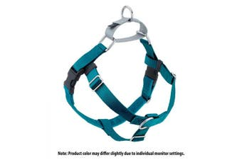 (Teal) - 2 Hounds Design Freedom No-Pull No Leash Harness Only, 2.5cm , X-Large