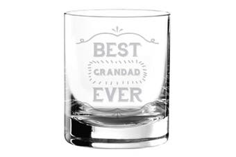Best Grandad Ever Engraved Tumbler Whiskey Whisky Glass Novelty Keepsake for Him Birthday Christmas Fathers Day
