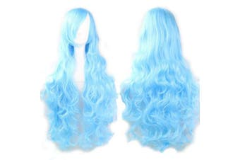 Vocaloid Sky Blue Long Curly Series Cosplay Wig Harajuku Lolita Costume Wigs