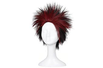 (Black/Red) - ColorGround Short Black and Red Cosplay Wig
