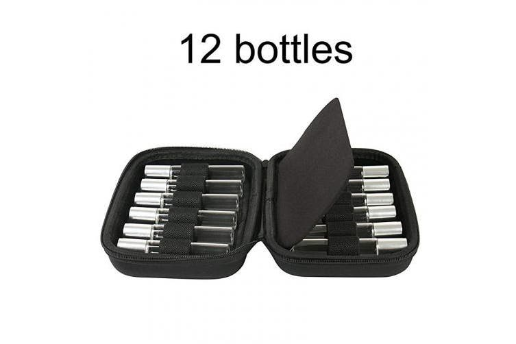 (12 Roller Bottles) - Essential Oils Carrying Case Storage Holder Organiser Holds 12 Bottles. Fits for 5ml/ 10ml Roller Bottles. Perfect for Travel or Daily Use