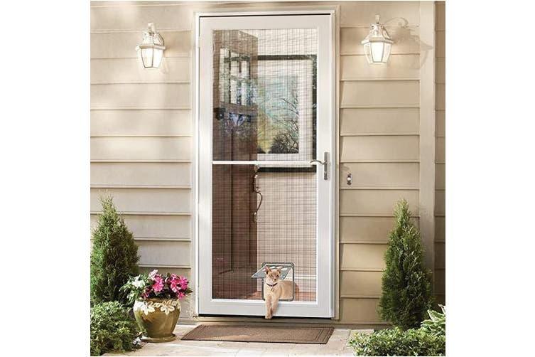 Small Catoop Pet Dog Cat Screen Door Pet Screen Door Protector For Sliding Door Automatic Lock Lockable Kogan Com